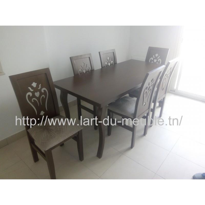 Salle A Manger Table Chaise L Art Du Meuble Meuble Tunisie