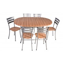 TABLE OVALE werzalit 145*94
