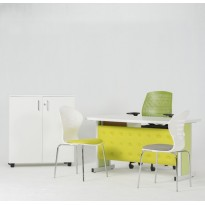 BUREAU SIMPLE OVAL CAPITONNE